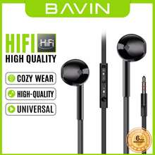 Bavin S389 Stereo Headphones Sound Stage With MIC And Sound Control 3.5mm Audio Jack Earphones