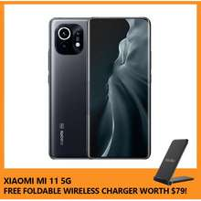 Xiaomi Mi 11 256Gb / 8Gb Ram (5G) Free Foldable Wireless Charger Worth $79! (Midnight Gray)