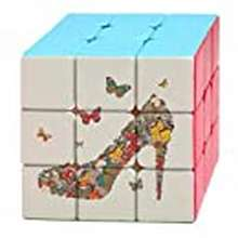 Butterfly Butterfly And High Heel Shoes Magic Cube Puzzle 3X3 Toy Game Play