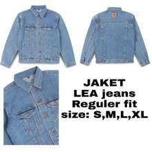 LEA Jeans Jaket Regular Fit / 211.46.22.90 / Jaket Jeans Pria / Jaket Jeans Unisex