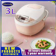 Midea Rice Cooker 3L Multifunctional Intelligence Pink Wfs3018Q