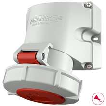 MENNEKES 9562 Wall Mounted Socket 32A 4P 3H