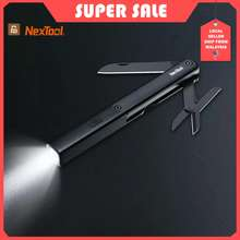 Xiaomi Mija Youpin Nextool Flashlight Multifunctional Tools 3In1 Lightweight Knife Scissors Usb Charging Ipx4 Waterproof
