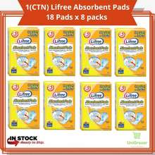 Lifree (1 Ctn) Absorbent Pads Unisex Adult Disposable Diapers 16 Inch 41Cm