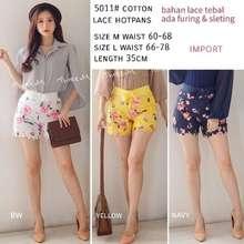 Import Hotpants Renda 5011 Kuning M