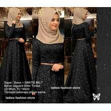 Ladies Fashion Dress Muslim GRATIS BELT   Dress Maxi   Maxi Muslim   Setelan  Maxi Dress d44ea3f682
