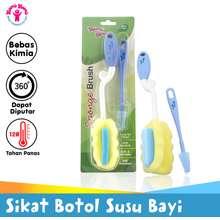 Young Sikat Botol Susu Bayi Spons Il 727 Sponge Brush 2 Pcs
