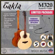 Takla M320 New Design Acoustic Guitar 41'' (Grand Auditorium Size)(Free Bag, Strap, Tuner, Pick & Capo)