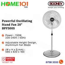 Booney Power Stand Fan 20 Inch 130W Bpf500S