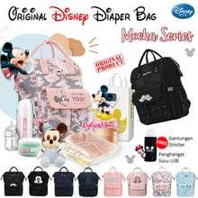 Disney Diaper Bag Original Mocha Multifunctional / Mummy Bag Bpa Free / Tas Bayi Lucu
