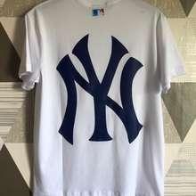 MLB T Shirt Pria Ny Premium White Kaos Pria Kaos Wanita Yankers Murah
