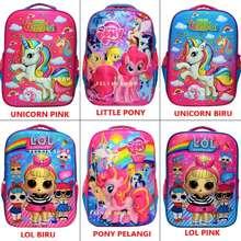 Unicorn Tas Ransel Anak Perempuan Sekolah Sd Lol Little Pony 3D Little Pony