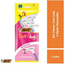 BIC Shaver Twin Lady 2 Blade Disposable Pouch 5+2