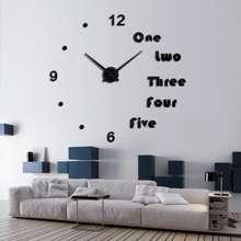 DIY jam dinding besar 3d acrylic desain huruf underline dan angka 7dadcd5341