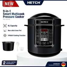Hetch Non-Stick Pot Rice/Pressure Cooker (1000W/6L/8 Programs] Psc-1608-Hc