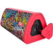 MIFA Wireless Bluetooth Speaker A10 Red-Graffiti Color Super Portable Wireless Bluetooth Speaker Built-in Microphone Stereo Rock Sound for Bedroom and Outdoor Support TF card