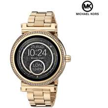 Michael Kors Display Mkt5021 Analog Quartz Gold Stainless Steel Womens Smartwatch