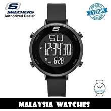 SKECHERS (Official Warranty) Sr6065 Magnolia Women'S Quartz Digital Black Silicone Strap Watch (2 Years Warranty)