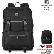Bruno Cavalli Backpack Usb Geno 2 86018 Trendy Light Edition - Tas Ransel Tas Punggung Tas Laptop