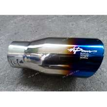 """Hks Straight 3"""" Inlet Universal Burnt Titanium Car Exhaust Tail Pipes Muffler Tip"""