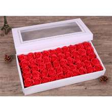 """[ Ready Stock ] 50Pcs """"3 Layer"""" Rose Soap Flower Artificial Flowers"""