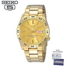 Seiko 5 Automatic Snke06K1 Gold Dial Gold Stainless Steel