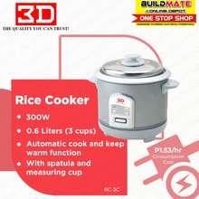 3D Automatic Rice Cooker 0.6L Rc-3C •Buildmate•