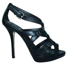 Dior Black Leather Strappy Sandals
