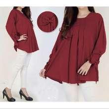 Ayako Fashion Dress Long Sleeve 8123 - (Maroon)