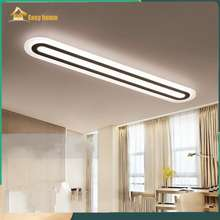 Easyhome LED Ceiling Light Office Creative Lamps Modern Minimalist Living Room Bedroom Corridor Rectangular Ceiling Lamps