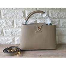 Louis Vuitton Tas Wanita Branded Lv Capucines Full Gray Shoulder Bag Best Quality