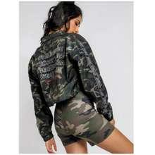 Stussy Women Adley Crop Jacket Camo - 8