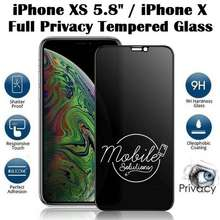 """Tempered Glass """"iPhone XS 5.8"""""""" / iPhone X Full Coverage Screen Protector (Privacy 180 Degree)"""""""