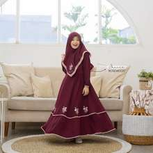 Emmaqueen - Set Dress Muslim Anak Janice Flowery