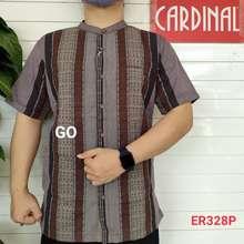 Cardinal Gof Xl Big Size Kemeja Koko Taqwa Pakaian Pria Original Baju Muslim Salur Lengan Pendek