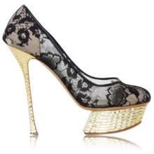 99259c360ea4 Nicholas Kirkwood Lace Mesh Pumps With Golden Platform