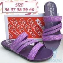 Kickers (Bisa Cod Beps) Sandal Tali Wanita / Sandal Kasual Wanita Model Slip On Bcl Strip 4 Warna Ungu