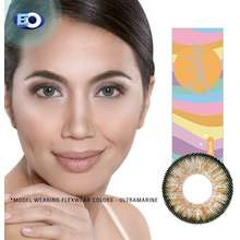 EO Flexwear Colors Colored Contact Lenses - Cinnamon - Good For 3 Months (-0.00 To -4.75)
