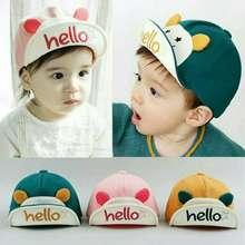 Unik Topi Bayi Anak Balita Baseball Kuping Korea Impor Lucu Murah Katun  Bordir HELLO Laki Perempuan 3d4e28654e