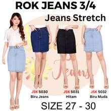 JSK 3 Warna / Rok Pendek 3/4 Jeans Melar Model A Trendy Gaul Wanita 5032