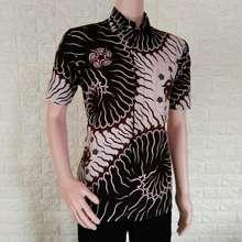 Azka Batik Baju Batik Pria Modern Terbaru Baju Batik kantor Batik Atasan  Kerja Kemeja Batik Pria fd0a7458fd