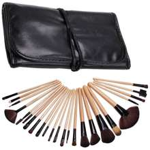 SALE LALANG 1 Set of 24 Pcs Makeup Brushes Tool Set Cosmetic Beauty Accessories Wood color