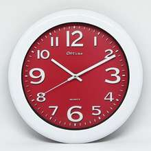 On Time Jam Dinding - Colourful (Merah ddd714b305