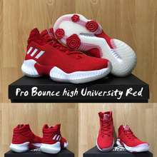adidas Sepatu Basket Pro Bounce High University Red Replika Box Original