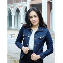 Ladies Fashion Jaket Wanita Bahan DENIM JEANS ASLI Bahan TEBAL   jaket  Tebel   Jacket Jeans b50a0052dd