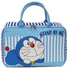 Doraemon Travel Bag Anak Karakter Bahan Kanvas - Biru