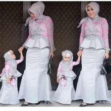 H&M Couple Bunda N Anak / Kebaya Muslim Hijab / Longdress Pesta / Baju Undangan / Gamis Kebaya Modern