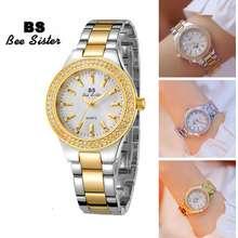 BS Bee Sister Luxury Fashion Women Watch Diamond Dial Stainless Rhinestone Lady Wristwatches Waterproof Quartz Watches Fa1258