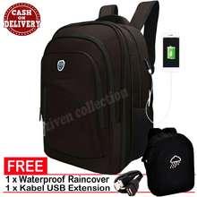 Luminox Tas Ransel Laptop Tahan Air 7709 - ZV Backpack Expandable Up to 15 inch Bonus
