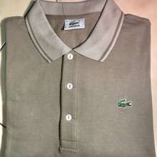 Lacoste Ori Atasan Kaos Polo Pria Merk Ukuran 7 (Xxl) Light Brown